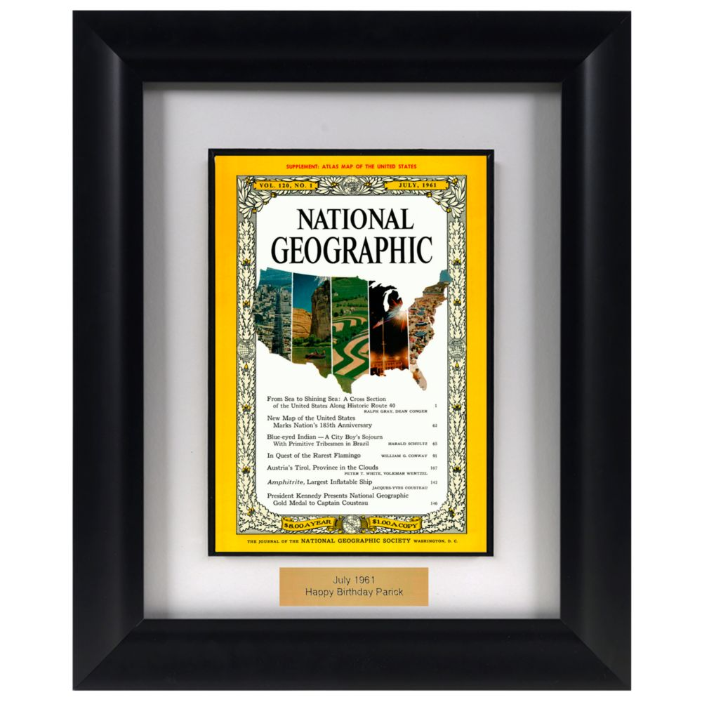 Personalized Framed ''Your Year'' National Geographic Magazine