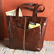 National Geographic Leather Travel Tote