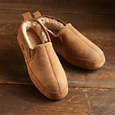 Slippers Lined with Sheepskin