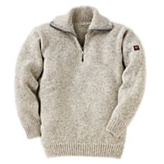 Norwegian Quarter-zip Wool Sweater