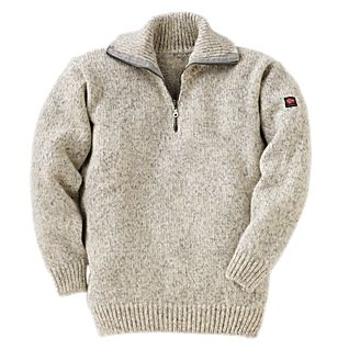View Norwegian Quarter-zip Wool Sweater image