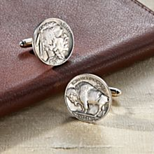 Handcrafted Buffalo Nickel Cufflinks