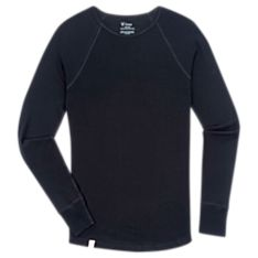 Men's New Zealand Base Layer Wool Long-Sleeved Crew