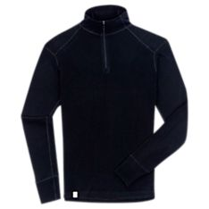 Imported Men's New Zealand Base Layer Wool Zip T-Shirt