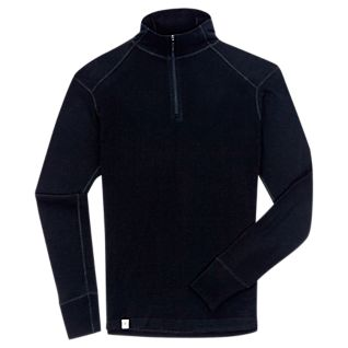 View Men's New Zealand Base Layer Wool Zip T-Shirt image
