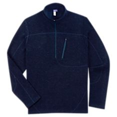 Mens Wool Zip Sweater