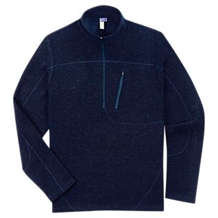 Men's New Zealand Wool Quarter-zip Pullover