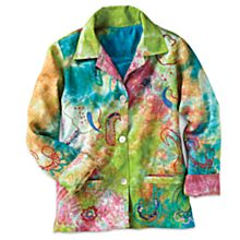 Indian Rainbow Paisley Jacket
