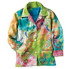 Women's Indian Rainbow Paisley Jacket