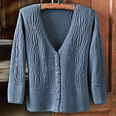Blue Alpaca Cardigan Sweaters