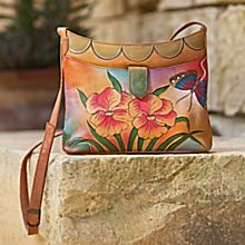Victoria Garden Hand-Painted Leather Bag, Crafted in India