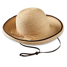 Women'S Raffia Travel Hat, Made in Canada