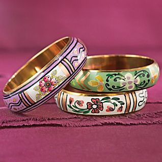 View Sarai Tareen Garden Bracelets - Set of 3 image