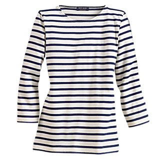 View St. James Women's French Sailor Boatneck 3/4 Sleeve Cotton Shirt image