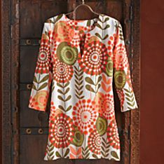 100% Cotton Indian Flower Burst Tunic
