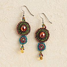 Handcrafted Maya Beaded Earrings
