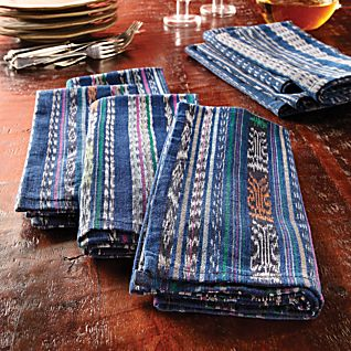 Guatemalan Ikat Napkins - Set of 4