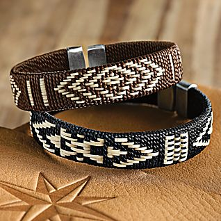 View Sinu Woven Palm Bracelets - Set of 2 image