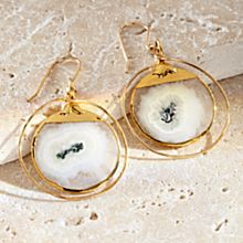 Handcrafted Solar Quartz Earrings