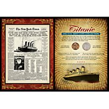 Historic Titanic Coin Card
