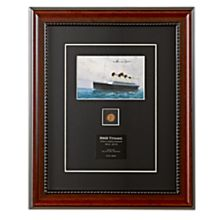 Signed Titanic Postcard and 1912 Penny
