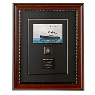 View Signed Titanic Postcard and 1912 Penny image