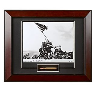 View Signed Iwo Jima Photograph With Bullet image