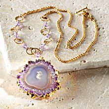 Amethyst Stalactite Necklace, Made in the USA