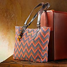 Canvas Cambodian Ikat Bag