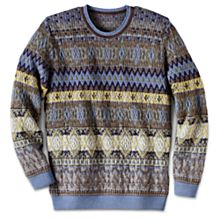 Blue Alpaca Sweater Men