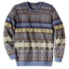 Mens Casual Knit Wool Sweater