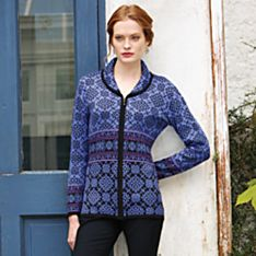 Women's Puno Shawl-Collar Alpaca Sweater