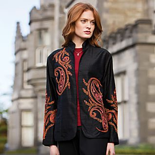 Taj Mahal Silk Jacket