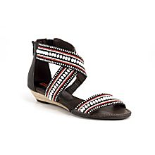 Maasai Beaded Criss-cross Sandals
