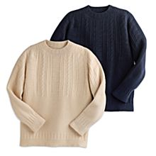 100% Wool Whitby Fisherman Sweater
