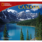 2013 National Geographic Canada Wall Calendar