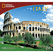 2013 National Geographic Italy Wall Calendar