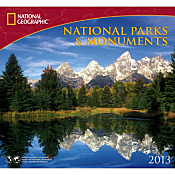 2013 National Geographic National Parks and Monuments Wall Calendar