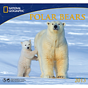2013 National Geographic Polar Bears Wall Calendar
