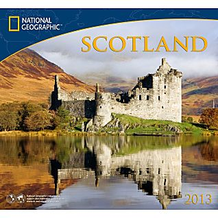 2013 National Geographic Scotland Wall Calendar