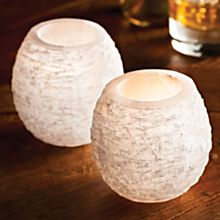 Handcrafted Moroccan Selenite Votive