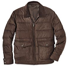 100% Cotton Men's Down Cruiser Coat