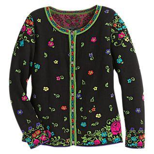 Serbian Floral Wool Cardigan