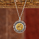 Owl of Wisdom Coin Necklace
