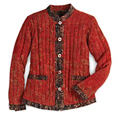 Women's Reversible Indonesian Batik Jacket