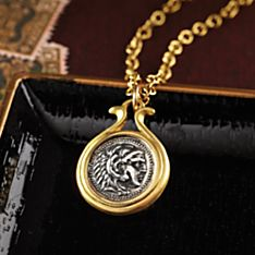 Sterling Silver Alexander the Great Coin Necklace