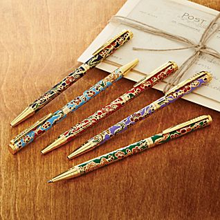 View Set of 5 Cloisonné Pens image
