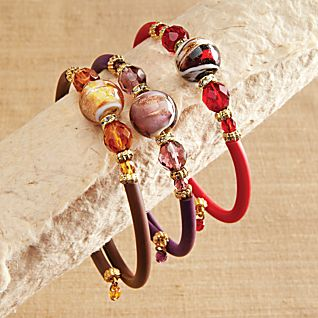 Venetian Glass Wrap Bracelet