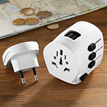 International Adapter and Dual USB Charger
