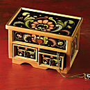 Reverse-painted Glass Jewelry Box